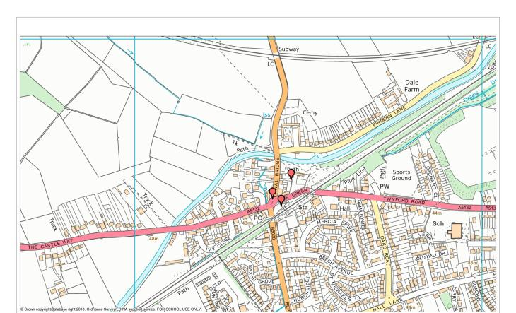 7 Green Man Willington Triangle Map