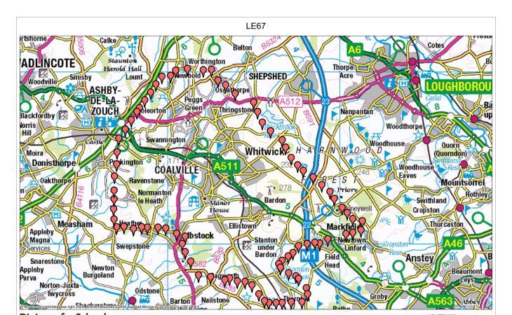 LE67 Map