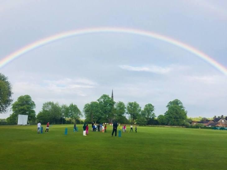 Ticknall CC rainbow