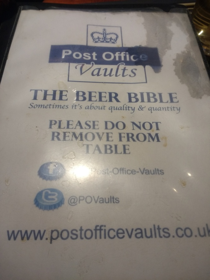 Top 20 Pubs: Post Office Vaults, Birmingham